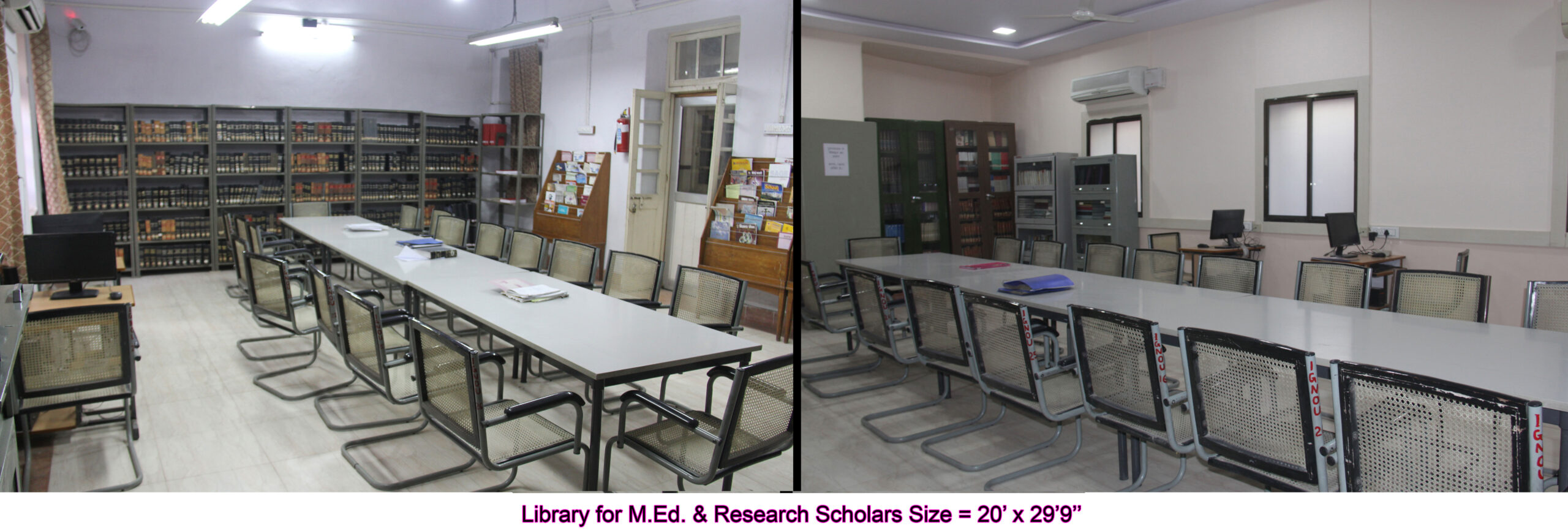 Library (For M.Ed & Res
